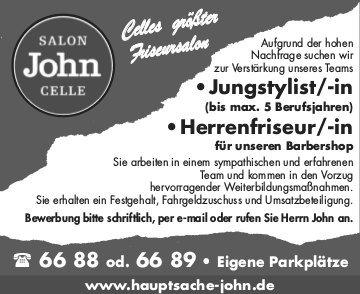 Salon John Celle - Jobs